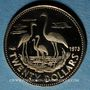Monnaies Bahamas. Elisabeth II. 20 dollars 1973. (PTL 585‰. 2,90 g)