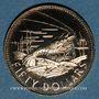 Monnaies Bahamas. Elisabeth II. 50 dollars 1973. (PTL 585‰. 7,27 g)