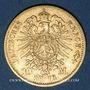 Monnaies Bavière. Louis II (1864-1886). 10 mark 1873D. (PTL 900/1000. 3,98 g)