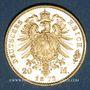 Monnaies Bavière. Louis II (1864-1886). 20  mark 1872 D. (PTL 900‰. 7,96 g)