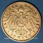 Monnaies Bavière. Otto (1886-1913). 10 mark 1893D. 900 /1000. 3,98 gr