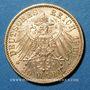 Monnaies Bavière. Otto (1886-1913). 20 mark 1900 D. (PTL 900‰. 7,96 g)