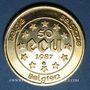Monnaies Belgique. Baudouin I (1951-1993). 50 écu 1987. (PTL 900/1000. 17,28 g)