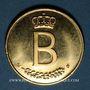 Monnaies Belgique. Baudouin I (1951-1993). Module de 20 francs 1976. 25 ans de règne. (PTL 900‰. 6,45 g)