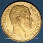 Monnaies Belgique. Léopold I (1831-1865). 20 francs 1865. L. WIENER. (PTL 900/1000. 6,45 g)