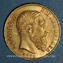 Monnaies Belgique. Léopold II (1865-1909). 20 francs 1875. (PTL 900‰. 6,45 g)