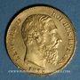 Monnaies Belgique. Léopold II (1865-1909). 20 francs 1876. Position A. (PTL 900/1000. 6,45 g)