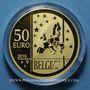 Monnaies Belgique. Philippe (21 juillet 2013 - ). 50 euro 2016. Albert Einstein. (PTL 999‰. 6,22 g)