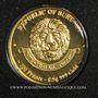 Monnaies Burundi. République. 100 francs 2015. (PTL 999‰. 0,5 g)