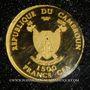 Monnaies Cameroun. République. 1500 francs CFA 2011 (PTL 999‰. 0,5 g)