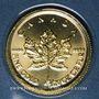 Monnaies Canada. Elisabeth II (1952- ). 1 dollar 2017. Feuille d'érable. (PTL 999,9‰. 1,55 g)