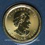 Monnaies Canada. Elisabeth II (1952- ). 1 dollar 2017. Feuille d'érable. (PTL 999,9/1000. 1,55 g)