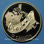 Monnaies Canada. Elisabeth II (1952- ). 100 dollars 1981. Hymne national. (PTL 917‰. 16,96 g)