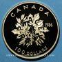 Monnaies Canada. Elisabeth II (1952- /). 100 dollars 1986. La Paix. (PTL 917/1000. 16,96 g)
