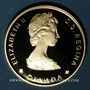 Monnaies Canada. Elisabeth II (1952- /). 100 dollars 1988. Baleines. (PTL 583‰. 13,34 g)