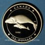 Monnaies Canada. Elisabeth II (1952- /). 100 dollars 1988. Baleines. (PTL 583/1000. 13,34 g)