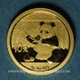 Monnaies Chine. République. 10 yuan 2017. Panda. 999 /1000. 1 gr