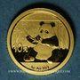 Monnaies Chine. République. 10 yuan 2017. Panda. (PTL 999‰. 1 g)