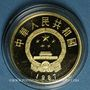 Monnaies Chine. République. 100 yuan 1987. Tang Taizong. (PTL 917‰. 11,32 g)