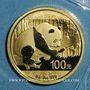 Monnaies Chine. République. 100 yuan 2016. Panda. 999 /1000. 8 gr