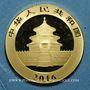 Monnaies Chine. République. 100 yuan 2016. Panda. (PTL 999‰. 8 g)