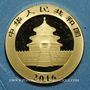Monnaies Chine. République. 100 yuan 2016. Panda. (PTL 999/1000. 8 g)