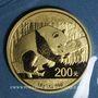 Monnaies Chine. République. 200 yuan 2016. Panda. (PTL 999‰. 15 g)