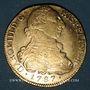 Monnaies Colombie. Charles III (1759-1788). 8 escudos 1787P-SF. Popayan