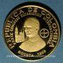 Monnaies Colombie. République. 100 pesos 1968. 39e congrès eucharistique international. (PTL 900/1000. 4,30g)