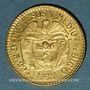 Monnaies Colombie. République. 2,5 pesos 1924 (PTL 917‰. 3,99 g)
