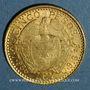 Monnaies Colombie. République. 5 pesos 1913 (PTL 917‰. 7,988 g)