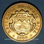 Monnaies Costa Rica. République. 20 colones 1900. (PTL 900‰. 15,56 g)