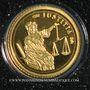 Monnaies Côte d'Ivoire. République. 1500 francs CFA (2007). (PTL 999 ‰. 0,5 g)