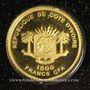 Monnaies Côte d'Ivoire. République. 1500 francs CFA 2010. (PTL 999 ‰. 0,5 g)