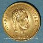 Monnaies Cuba. 1ère République (1902-1962). 2 pesos 1916 (PTL 900‰. 3,34 g)