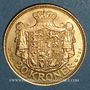 Monnaies Danemark. Christian X (1912-1947). 20 kroner 1913 (PTL 900‰. 8,96 g)