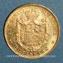 Monnaies Espagne. Alphonse XIII (1886-1931). 20 pesetas 1890(90)MP-M. Madrid. (PTL 900‰. 6,45 g)