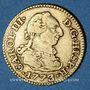 Monnaies Espagne. Charles III (1759-1788). 1/2 escudo 1773/2PJ. Madrid