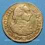 Monnaies Espagne. Charles III (1759-1788). 1/2 escudo 1786DV