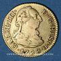 Monnaies Espagne. Charles III (1759-1788). 1/2 escudo 1788M. Madrid
