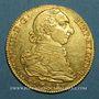 Monnaies Espagne. Charles III (1759-1788). 4 escudos 1786 M-DV. Madrid (PTL  13,54 g. 0,875)