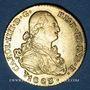 Monnaies Espagne. Charles IV (1788-1808). 2 escudos 1803S CN. Séville. (PTL 875‰. 6,77 g)