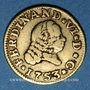 Monnaies Espagne. Ferdinand VI (1746-1759). 1/2 escudo 1753S PJ. Séville