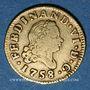 Monnaies Espagne. Ferdinand VI (1746-1759). 1/2 escudo 1758JB. Madrid