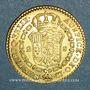 Monnaies Espagne. Ferdinand VII (1808-1833). 2 escudos 1820S-CJ. Séville (PTL 875/1000. 6,77 g)