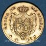 Monnaies Espagne. Isabelle II (1833-1868). 4 escudos 1867. Madrid. (PTL 900‰. 3,3349 g)