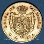 Monnaies Espagne. Isabelle II (1833-1868). 4 escudos 1867. Madrid. (PTL 900/1000. 3,3349 g)