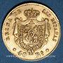 Monnaies Espagne. Isabelle II (1833-1868). 40 reales 1864. Madrid. (PTL 900/1000. 3,3349 g)