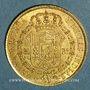 Monnaies Espagne. Isabelle II (1833-1868). 80 reales 1835M-CR. Madrid. (PTL 875/‰. 6,77 g)