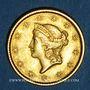 Monnaies Etats Unis. 1 dollar 1850. Philadelphie. (PTL 900/1000. 1,67 g)